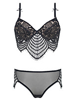 Shaperdiva Women's Push Up Embroidery Bras Set Lace Lingerie Bra and Panties