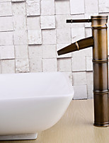 Contemporary / Modern Centerset Widespread with  Ceramic Valve Single Handle One Hole for  Antique Copper , Bathroom Sink Faucet