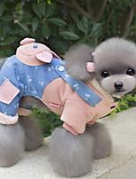 Hunde Mäntel Blau / Rosa Hundekleidung Winter Karton Niedlich / Lässig/Alltäglich /