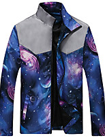 Men's Casual/Daily / Sports Active JacketsGalaxy Stand Long Sleeve Spring / FallAcrylic / Polyester Thin 916454
