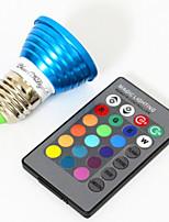 3W E26/E27 Spot LED MR16 1 LED Haute Puissance 240 lm RVB Décorative AC 85-265 V 1 pièce