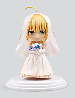 Fate/stay night Saber Lily PVC 6cm Anime Action Figures Model Toys Doll Toy Wedding dress