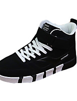 Femme-Décontracté-Noir / Noir et rouge / Noir et blanc-Talon Plat-Confort-Sneakers-Polyuréthane
