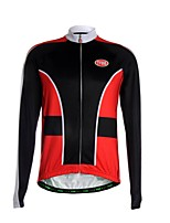 Sports Cycling Jersey Men's Long Sleeve Breathable /Front Zipper / Back Pocket / Ultra Light Fabric Bike Jersey