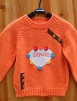 Baby Casual/Daily Jacquard Sweater & CardiganCotton Winter / Fall-Orange