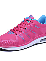 Women's Sneakers Spring Fall Comfort Tulle Microfibre Casual Flat Heel Lace-up Black Red White Running