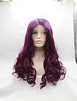 Sylvia Synthetic Lace front Wig Purple Heat Resistant Long Natual Wave Synthetic Wigs For Black Women