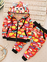 Boy's Casual/Daily Print Clothing SetCotton Fall Green / Red