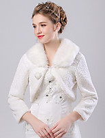 Women's Wrap Shrugs Faux Fur / Imitation Cashmere Wedding Pattern