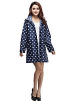 Wave Point Hat Raincoat Waterproof Breathable long Coat Windbreaker