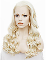 imstyle 24''beautiful термостойкий 613 блондинка длинные волны синтетический парик фронта шнурка