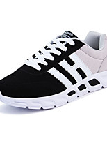 Men's Sneakers Spring Summer Fall Comfort Fabric Athletic Flat Heel Lace-up Black Blue Gray Black and Red Running