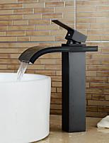 современный водопад Центровой с керамическим клапаном одной ручкой одно отверстие для хрома, ванной раковина смеситель