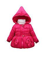 Girl's Casual/Daily Print Clothing SetCotton Winter Pink / Red / White