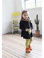 Girl's Casual/Daily Striped LeggingsCotton Winter Brown