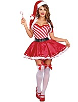 Dreamgirl Women's Candy Cane Cutie Costume  Female Christmas Costumes Dress Sexy Santa's  Costumes