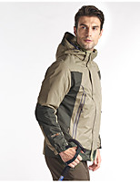 Hiking Softshell Jacket Men's Waterproof / Breathable / Thermal / Warm / Windproof / Wearable Fall / Winter/ Red /