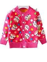 Girl's Casual/Daily Print Down & Cotton PaddedCotton Winter Pink / Red