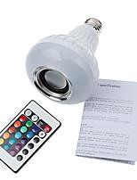 12W E26/E27 Круглые LED лампы А90 1 SMD 5060 900 lm Холодный белый / RGB Регулируемая / На пульте управления / Декоративная / Bluetooth V