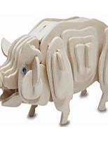 Пазлы Деревянные пазлы Строительные блоки DIY игрушки Поросенок 1 Дерево Со стразами