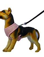 Cat / Dog Harness / Leash Reflective / Adjustable/Retractable / Cosplay / Breathable / Safety / Soft / Running / Vest / Casual SolidRed /