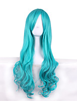 Synthetic Cosplay Wig Neliel Tu Oderschvank Long Curly Blue Costume Capless Wigs