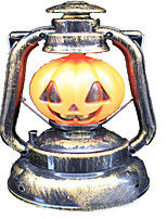 Lights LED 100 Lumens Camping/Hiking Pumpkin Skull Witch Sound Hand Lamp Ghosty Laughter with Light Party Halloween Lantern Light Decoration