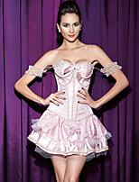 Serre Taille Vêtement de nuit Femme,Push-up / Lace Imprimé-Moyen Polyester Rose Aux femmes