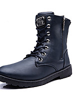 Men's Boots Spring / Fall Comfort PU Casual Flat Heel  Black / Blue Sneaker