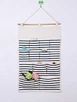 Thirteen Pockets Behind The Door Print Big Capacity Storage Bag Random Colors