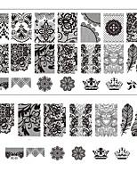 Spitze Drucknagelkunst Prägedekor DIY Maniküre Platten für Nägel Vorlagen Salon Werkzeuge BC03 Stanzen