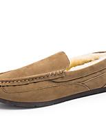 Черный / Синий / Коричневый / Серый / Хаки-Мужской-На каждый день-Дерматин-На плоской подошве-Удобная обувь-Мокасины и Свитер