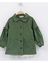 Girl's Casual/Daily Solid Suit & BlazerCotton Spring / Fall Green