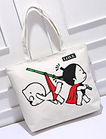 Unisex Polyester Casual Tote White