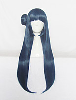 Love Live Sunshine Aqours Tsushima Yoshiko Long Blue Cosplay Wig