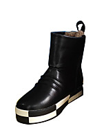 Boy's Boots Winter Comfort PU Outdoor / Casual Flat Heel Rivet / Others Red Walking