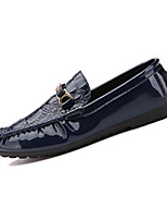 Men's Loafers & Slip-Ons Spring / Fall Comfort PU Casual Flat Heel Slip-on Black / Blue / White Sneaker