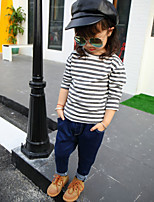 Girl's Casual/Daily Solid Pants / JeansCotton Spring / Fall Blue
