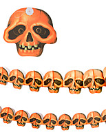 1PC 3M The Haunted House Bar Scene Props Halloween Pumpkins Skeleton Garland Decoration Supplies