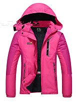 Hiking Softshell Jacket Women's Waterproof / Breathable / Thermal / Warm / Windproof /  Fall / Winter Green / Red