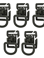 FURA Outdoor 360 Degree Rotation NylonTactical D-Ring Buckles - Black  / Green / Khaki(5 PCS)