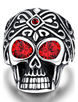 Revelation rider ring punk wind Maya fire eye skull Men's 316L steel ring Christmas Gifts