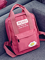 Women Canvas Casual Backpack White / Pink / Blue / Red / Gray / Black