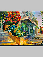 Hand Painted Abstract Knife Corner Landscape Oil Painting On Canvas Modern Wall Art For Home Decoration Ready To Hang