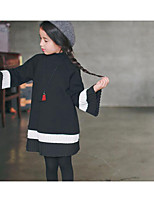 Girl's Casual/Daily Solid DressCotton Fall Black