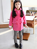 Girl's Casual/Daily Solid Down & Cotton PaddedWool Winter / Fall Red