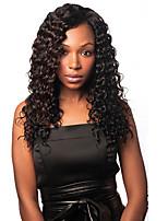 высший сорт 8-30inch кудрявый фигурных парики шелковистые полный парик шнурка парики человеческих волос для черных женщин бесклеевой