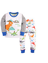 Boy's Casual/Daily Print Clothing SetPolyester Winter Green / White