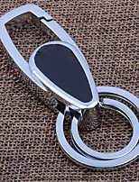 Metal Key Chain Pendant Leather Car Key Ring Business Men 'S Waist Buckle