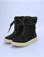 Girl's Boots Comfort Cowhide Casual Black Khaki